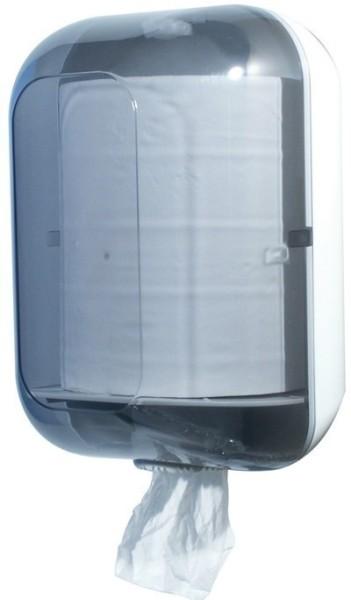 Paper towel dispenser MP 725 made of plastic in white/transparent Marplast S.p.A. Maxi