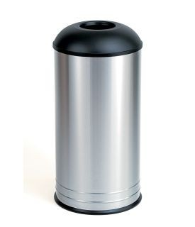 Bobrick B-2300 freestanding stainless steel waste bin 68,1L with round top Bobrick B-2300
