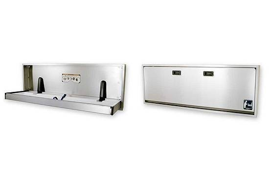 Adult Changingtable high quality stainless steel - Horizontal for wall mounting 100-SSE