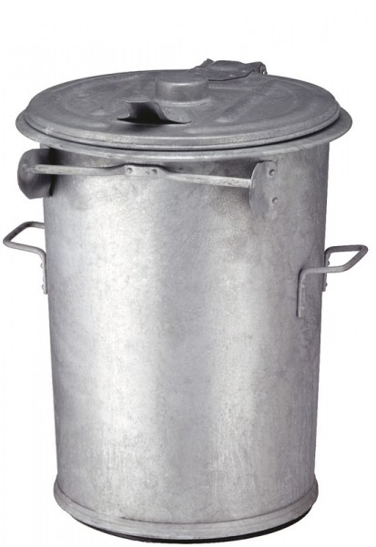 Feuerfester Stahlverzinkter Abfallsammler 90 Liter