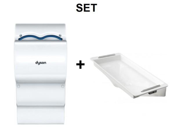 SET Dyson Airblade dB Händetrockner AB14 + DripTray Tropfschale für Händetrockner Dyson  CSMD14BLANC,T.7.245