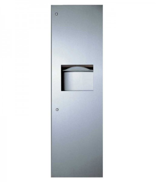 Bobrick recessed stainless steel paper towel dispenser and waste receptacle Bobrick B-39003