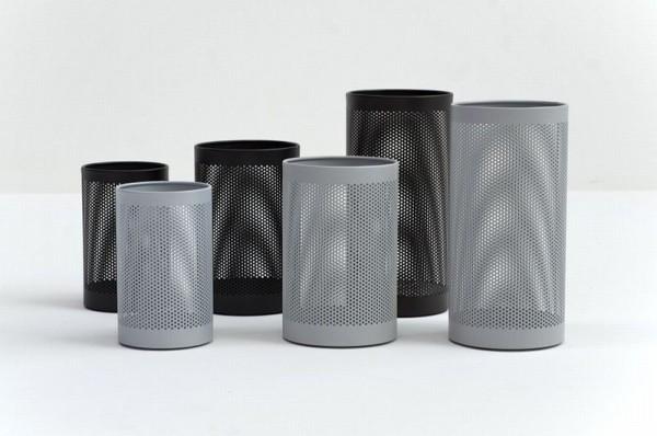 Graepel G-Line Pro, wastebasket FORATO black painted steel 1.4016, 4 sizes G-line Pro K00021112,K00021132,K00021152,K00021172