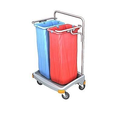 Splast Doppel-Abfallwagen aus Kunststoff 2 x 70l - Deckel ist optional Splast TSO-0017,TSO-0018