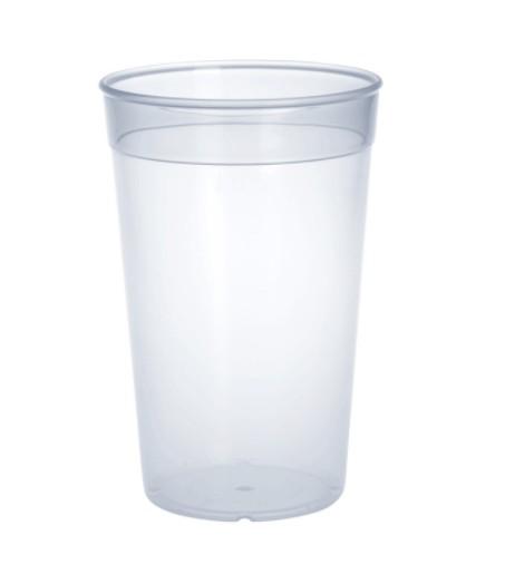 Set 20 piece plastic reusable-cup transparent 0,2l PP stackable Schorm GmbH 9025