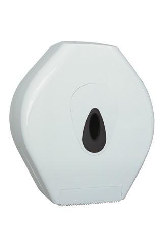 PlastiQline Midi jumbo roll holder made of plastic for wall mounting made of white stainless steel PlastiQ-line 5531