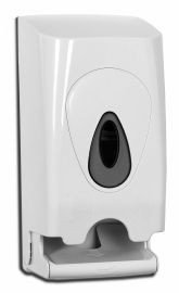 PlastiQline toilet paper dispenser for 2 rolls made of white plastic for wall mounting PlastiQ-line 5591