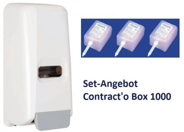 Hyprom Set Angebot Seifenspender Contract o Box mit 3 Packungen Lotion Seife Hyprom SA