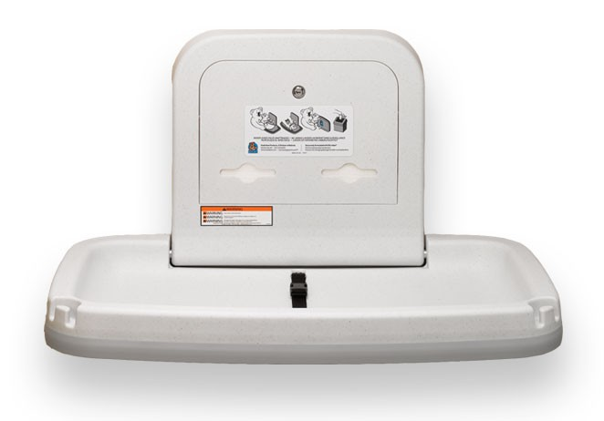 NEUE Koala Wickelstation KB-200 Horizontal Wei/ß-Granit MICROBAN/® Hygieneschutz