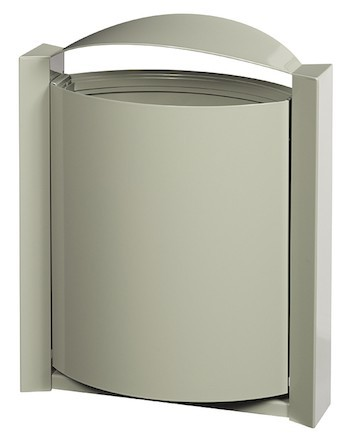 Rossignol Arkea trash can 40 liter for wall mounting made of steel Rossignol 56300,56303,56304,56245