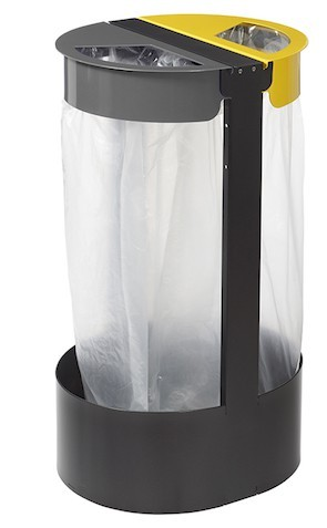 Rosignol free standing or fixed bag holder 2 x 75L for a clean separation of waste Rossignol 58797,58799