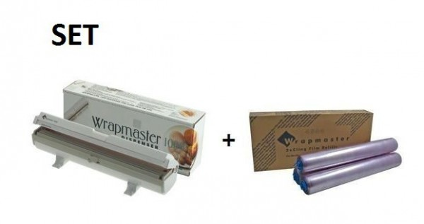 SET Efficient Wrapmaster dispenser 1000 and cling film 1000 from Polyethylene Wrapmaster 63M10,18C35