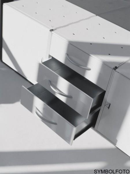 Graepel High Tech 3 Schubladen aus verzinktem Stahl für QBO Würfel Graepel Hightech K00088059