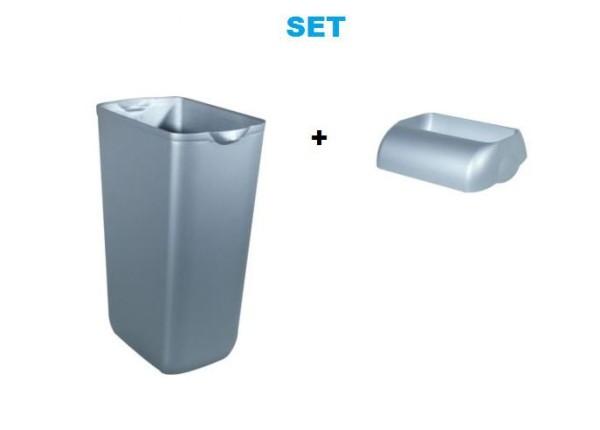 Set - Marplast Mülleimer 23L Satin MP 742 - mit Einwurf-Öffnung Deckel Marplast S.p.A. MP742,744