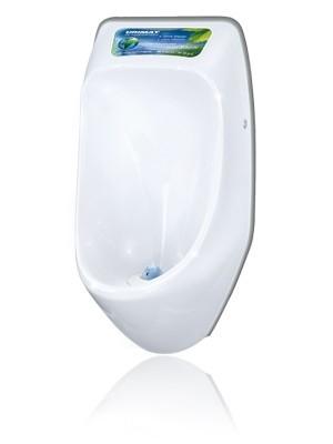 URIMAT ecoplus Wasserloses Urinalbecken aus Polykarbonat mit passivem Display Urimat 16001