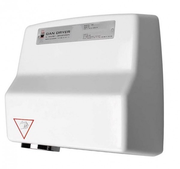 Dan Dryer hand dryer AE made of die-cast aluminium with 2360W and with IR sensor Dan Dryer A/S 261