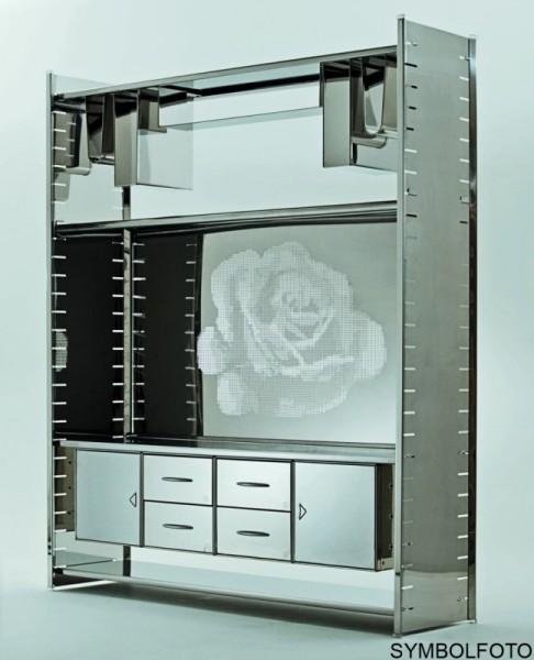Graepel High Tech italienisches H2 Giant Regalsystem aus poliertem Edelstahl Graepel Hightech K00089700