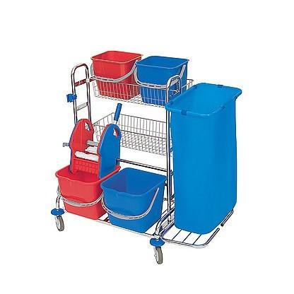 Splast chrome cleaning set: buckets, wringer, baskets, 1 or 2 bag holders Splast ZS-0003,ZS-0011