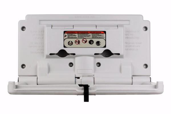 Baby-Wickelstation Kunststoff Horizontal mit Sicherheitsgurt Perlweiss (RAL 7047)   BABH99