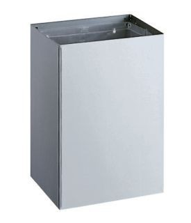 Bobrick B-275 waste bin 76L for surface mounting of satin brushed stainless steel Bobrick B-275