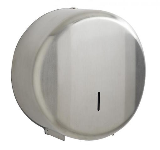 Rossignol Lensea toilet paper dispenser made of stainless steel with control window Rossignol 52668,52669
