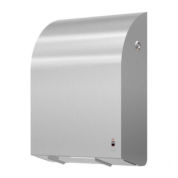 Dan Dryer toilet roll holder made of brushed stainless steel for 4 standard rolls Dan Dryer A/S 285