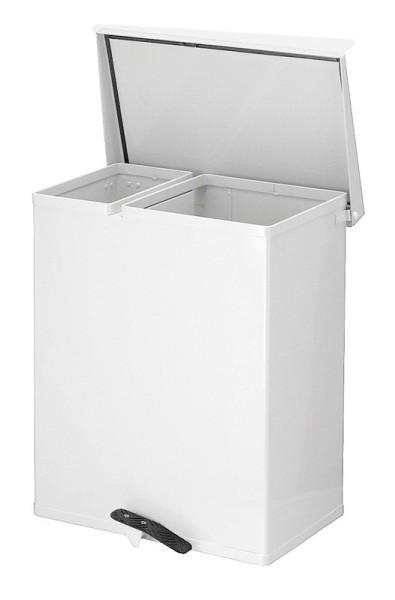Tritt-Mülleimer 25 + 55 Liter aus Aluminium VB 700000