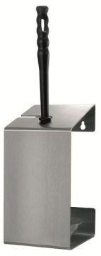 MediQo-line toilet brush holder for wall mounting incl. black-white toilet brush MediQo-line 13205,13206