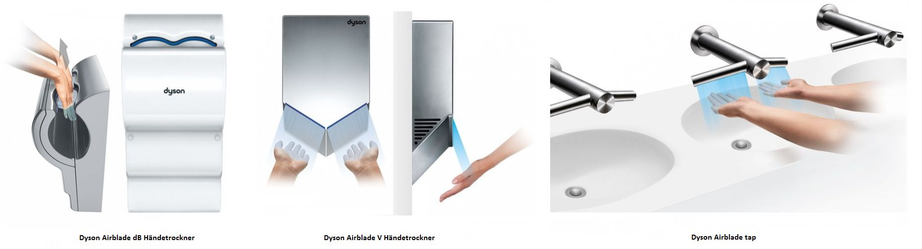 Dyson Airblade Modelle