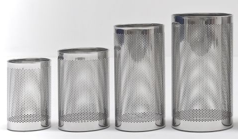 Graepel G-Line Pro, wastebasket FORATO polished stainless steel 1.4016, 4 sizes G-line Pro K00021110,K00021130,K00021150,K00021170