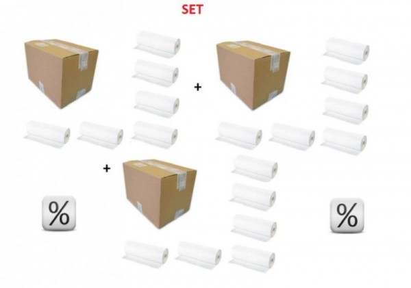 Super discount set - 3 Boxes x 6 Paperrolls Economic - Very hygienic PL/3,A134