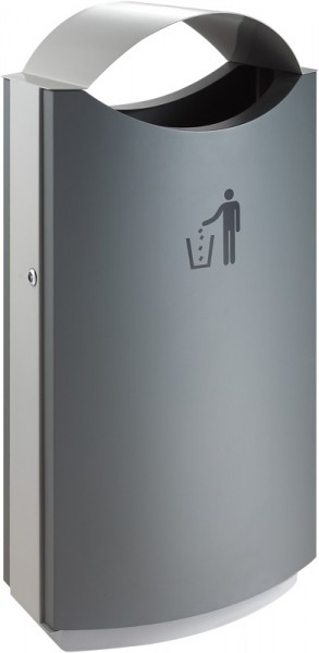 Outdoor Rubbish Bin with Cover 68 litres VB 667864