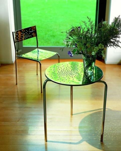 Graepel Tempesta erstklassiger Outdoor Tisch aus Edelstahl 1.4016 silber lackiert und behandelt Graepel Tempesta Tempesta lackiert und behandelt 60 cm