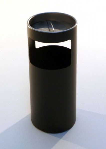 Graepel G-Line Pro Livigno ashtray made of black painted chrome steel 1.4016 G-line Pro K00031922
