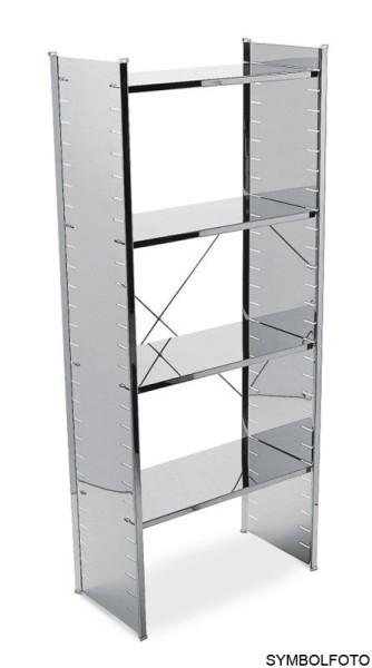 Graepel High Tech Ständer mit Kreuz aus silber lackiertem Stahl für das H2 Regalsystem Graepel Hightech K00089618