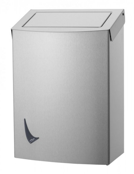 Wings waste bin closed available in 9L, 20L and 56L made of stainless steel Wings 4017, 4027, 4037