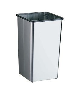 Bobrick B-2260 freestanding open waste bin of stainless steel satin finish 49,2L Bobrick B-2260