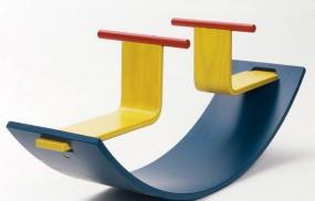 Kinder Schaukel Spielmöbel Twin - Holz Design - Für Innenräume - TÜV GS geprüft