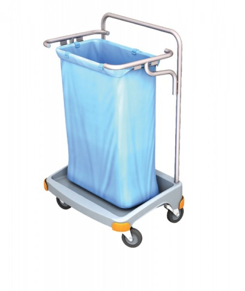 Splast single plastic waste trolley 120l - available with or without lid Splast TSO-0001,TSO-0002