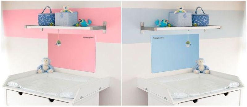 Infrarot Heizpaneele für Wickeltische in pink und blau