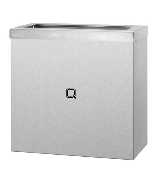 Open trash can made of stainless steel available in 9L, 30L and 85L from Qbic-Line