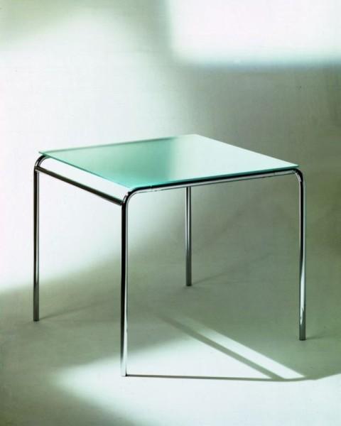 Graepel Tempesta Outdoor Tisch silber lackiert und behandelt mit TischflŠche aus Sekuritglas Graepel Tempesta Tempesta Tisch lackiert und behandelt 90x83x70