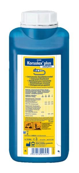 Korsolex® plus aldehydfreies Instrumenten-Desinfektionsmittel Paul Hartmann Ges.m.b.H.  2 L