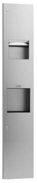 Bobrick recessed paper towel dispenser, automatic hand dryer and waste bin combi Bobrick B-815969