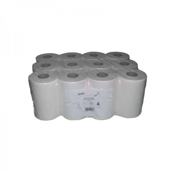 Papierhandtücher 12101 1-lagig MINI Innenzug Zellstoff 12 Rollen
