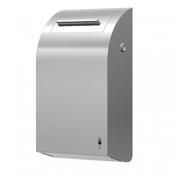 Dan Dryer sanitary bin 7L made of brushed stainless steel with inner bucket Dan Dryer A/S 283