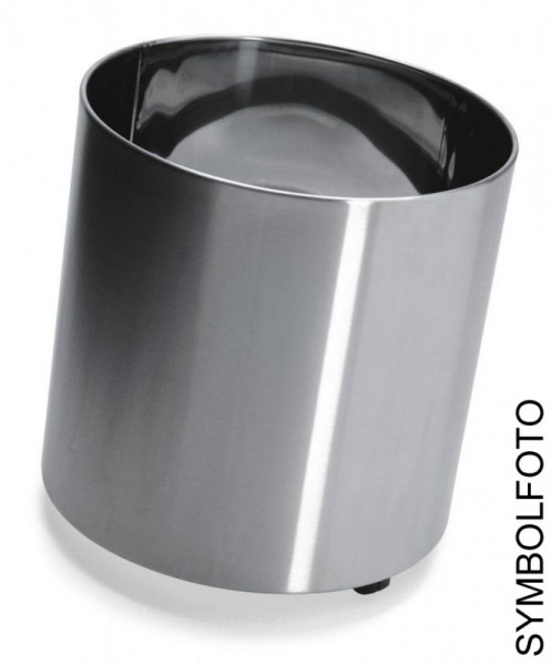 NAXOS 6 flower pots in different sizes (with wheels) made of brushed stainless steel, Graepel G-Line Pro G-line Pro K00031494