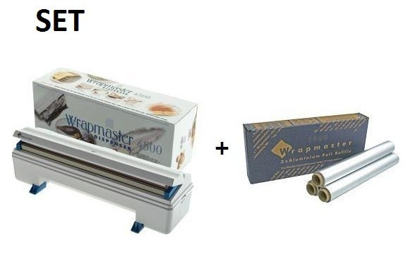 SET efficient and robust Wrapmaster dispenser 4500 and aluminum foil 4500 Wrapmaster 63M91,23C89
