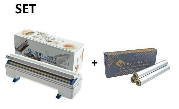 SET Effizienter und robuster Wrapmaster-Spender 4500 und Alufolie 4500 Wrapmaster 63M91,23C89