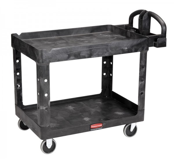 Rubbermaid heavy-Duty utility Cart with lipped shelves Rubbermaid VB 004520-58